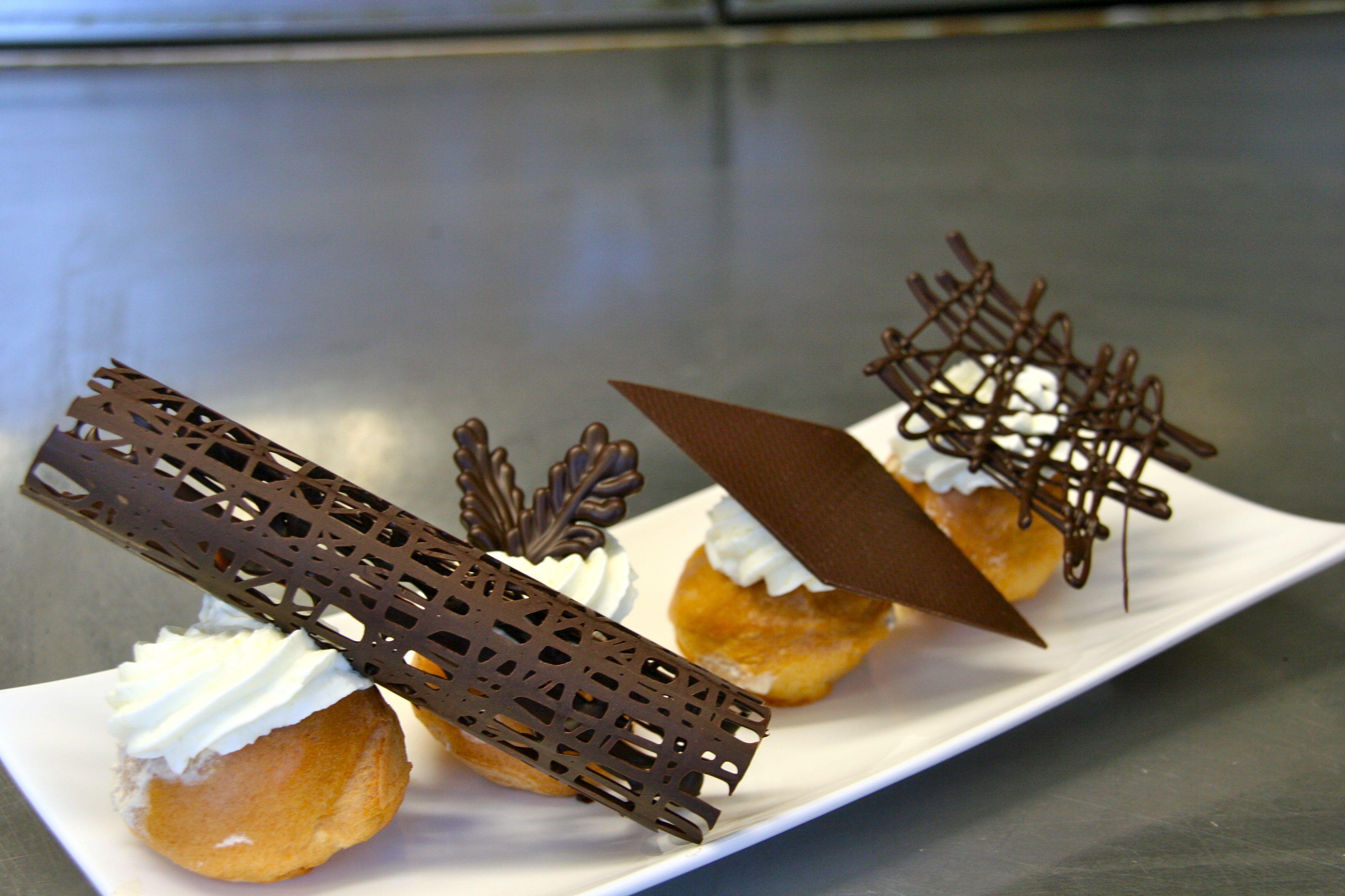 chocolade decoratie vormen met kookvideo